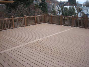 freshly installed deck