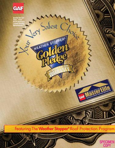 golden pledge warranty flyer
